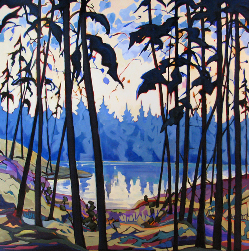 Dark Trees - painting by Carolee Clark