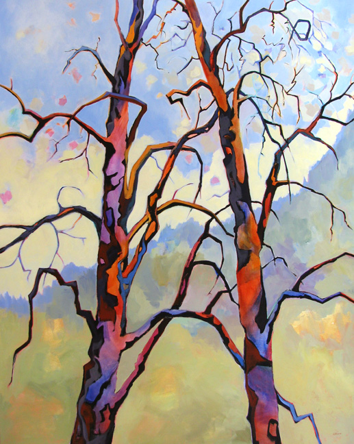Companionship, tree painting by Carolee Clark