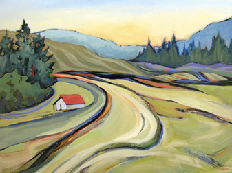 """Ryans Lane"" painting by Carolee Clark"