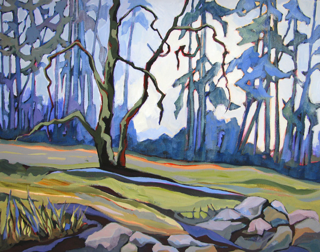 """Field Guardian,"" landscape painting by Carolee Clark"